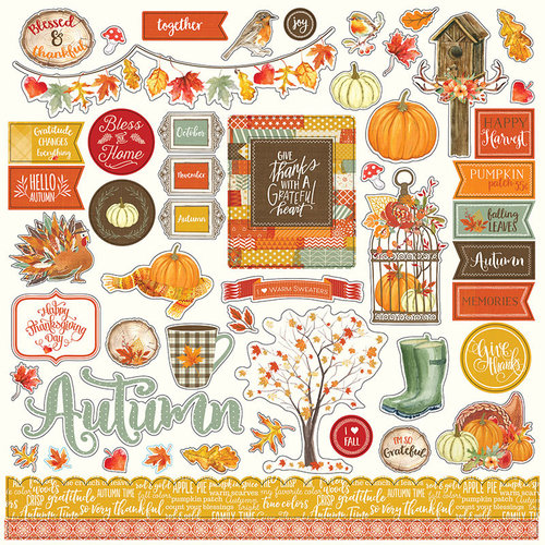 Photo Play Paper - Falling Leaves Collection - 12 x 12 Cardstock Stickers - Elements