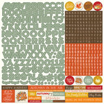 Photo Play Paper - Falling Leaves Collection - 12 x 12 Cardstock Stickers - Alphabet