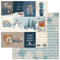 Photo Play Paper - For the Love of Winter Collection - 12 x 12 Double Sided Paper - Get Cozy