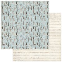 Photo Play Paper - For the Love of Winter Collection - 12 x 12 Double Sided Paper - Through the Woods