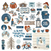 Photo Play Paper - For the Love of Winter Collection - 12 x 12 Cardstock Stickers - Elements