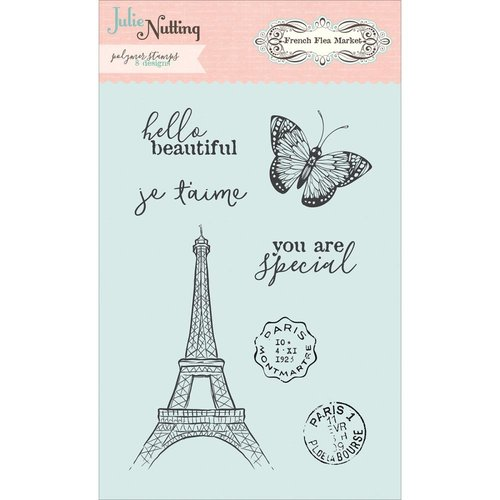 Photo Play Paper - French Flea Market Collection - Clear Acrylic Stamps