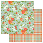 Photo Play Paper - Fresh Picked Collection - 12 x 12 Double Sided Paper - Fresh Flowers