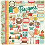 Photo Play Paper - Fresh Picked Collection - 12 x 12 Cardstock Stickers - Elements
