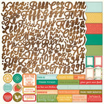 PhotoPlay Paper - Fresh Picked Collection - 12 x 12 Cardstock Stickers - Alphabet