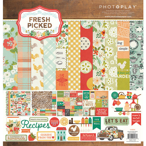 Photo Play Paper - Fresh Picked Collection - 12 x 12 Collection Pack