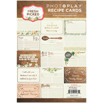 Photo Play Paper - Fresh Picked Collection - Recipe Card Pack