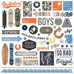 Photo Play Paper - Freestyle Collection - 12 x 12 Cardstock Stickers - Elements