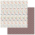 Photo Play Paper - Free Bird Collection - 12 x 12 Double Sided Paper - Eye Wild Child Stripe