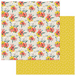 Photo Play Paper - Free Bird Collection - 12 x 12 Double Sided Paper - Fancy Free Floral