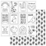 Photo Play Paper - Free Bird Collection - 12 x 12 Double Sided Paper - Color Me