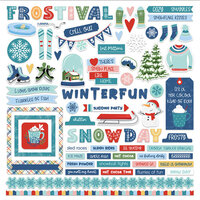 Photo Play Paper - Frostival Collection - 12 x 12 Cardstock Stickers - Elements
