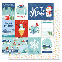 Photo Play Paper - Frostival Collection - 12 x 12 Double Sided Paper - Let It Snow