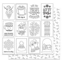 Photo Play Paper - Frostival Collection - 12 x 12 Double Sided Paper - Color Me Sheet