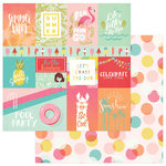 Photo Play Paper - For the Love of Summer Collection - 12 x 12 Double Sided Paper - Summer Vibes