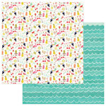 Photo Play Paper - For the Love of Summer Collection - 12 x 12 Double Sided Paper - Cool Off