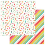Photo Play Paper - For the Love of Summer Collection - 12 x 12 Double Sided Paper - Flip Out