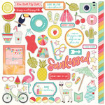 Photo Play Paper - For the Love of Summer Collection - 12 x 12 Cardstock Stickers - Elements