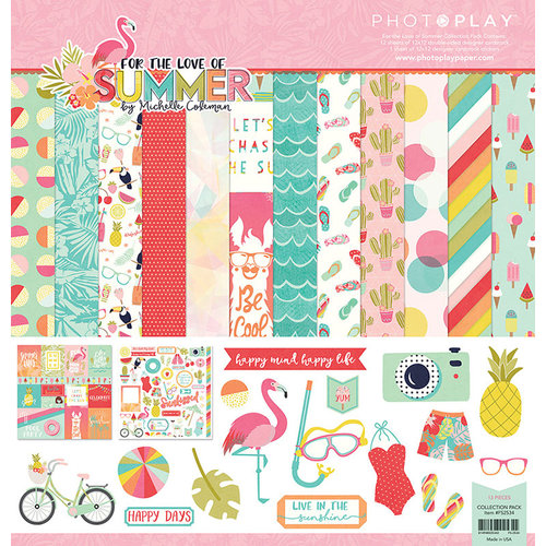 Photo Play Paper - For the Love of Summer Collection - 12 x 12 Collection Pack