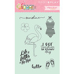 Photo Play Paper - For the Love of Summer Collection - Clear Acrylic Stamps