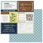 PhotoPlay Paper - Family Ties Collection - 12 x 12 Double Sided Paper - Boy