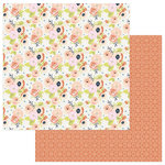 PhotoPlay Paper - Family Ties Collection - 12 x 12 Double Sided Paper - Floral