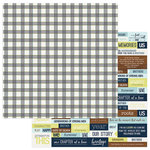 Photo Play Paper - Family Ties Collection - 12 x 12 Double Sided Paper - Plaid