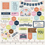 PhotoPlay Paper - Family Ties Collection - 12 x 12 Cardstock Stickers - Elements