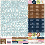 PhotoPlay Paper - Family Ties Collection - 12 x 12 Cardstock Stickers - Alphabet