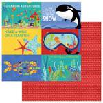 Photo Play Paper - Fish Tales Collection - 12 x 12 Double Sided Paper - Showtime