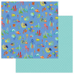 Photo Play Paper - Fish Tales Collection - 12 x 12 Double Sided Paper - Under The Sea