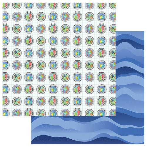 Photo Play Paper - Fish Tales Collection - 12 x 12 Double Sided Paper - Port Holes