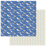 Photo Play Paper - Fish Tales Collection - 12 x 12 Double Sided Paper - Shark Week