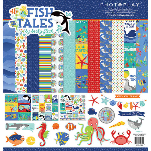 Photo Play Paper - Fish Tales Collection - 12 x 12 Collection Pack