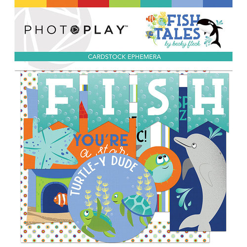 Photo Play Paper - Fish Tales Collection - Ephemera