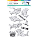 Photo Play Paper - Fish Tales Collection - Clear Photo Photopolymer Stamps - Shark