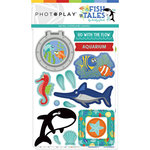 Photo Play Paper - Fish Tales Collection - Chipboard Stickers