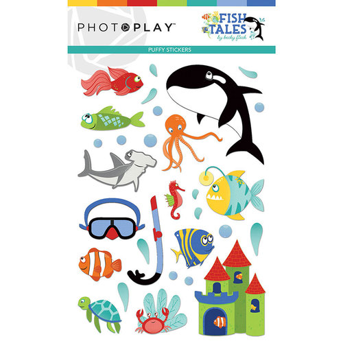 Photo Play Paper - Fish Tales Collection - Puffy Stickers