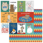 Photo Play Paper - Whiskers Collection - 12 x 12 Double Sided Paper - Cats Rule
