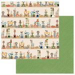Photo Play Paper - Whiskers Collection - 12 x 12 Double Sided Paper - Cat Nip