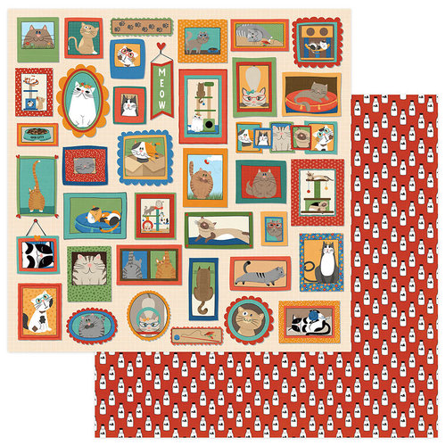 Photo Play Paper - Whiskers Collection - 12 x 12 Double Sided Paper - Cat Lady