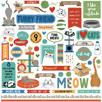 Photo Play Paper - Whiskers Collection - 12 x 12 Cardstock Stickers - Elements