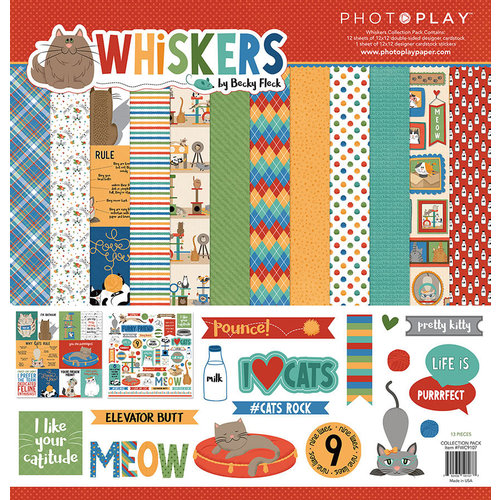 Photo Play Paper - Whiskers Collection - 12 x 12 Collection Pack