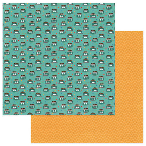 Photo Play Paper - Fetch Collection - 12 x 12 Double Sided Paper - Kibbles