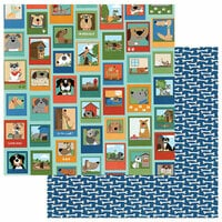 Photo Play Paper - Fetch Collection - 12 x 12 Double Sided Paper - Best Friend