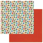 Photo Play Paper - Fetch Collection - 12 x 12 Double Sided Paper - Dog Tags