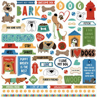 Photo Play Paper - Fetch Collection - 12 x 12 Cardstock Stickers - Elements