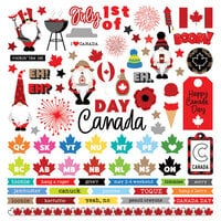 Photo Play Paper - Gnome Calendar Collection - 12 x 12 Cardstock Stickers - Elements - Canada