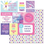 Photo Play Paper - I Love Gymnastics Collection - 12 x 12 Double Sided Paper - Gymnast Cards