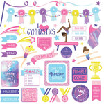 Photo Play Paper - I Love Gymnastics Collection - 12 x 12 Cardstock Stickers - Elements